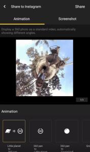 Insta360 - Instagramで360度写真をシェアする方法 - 3