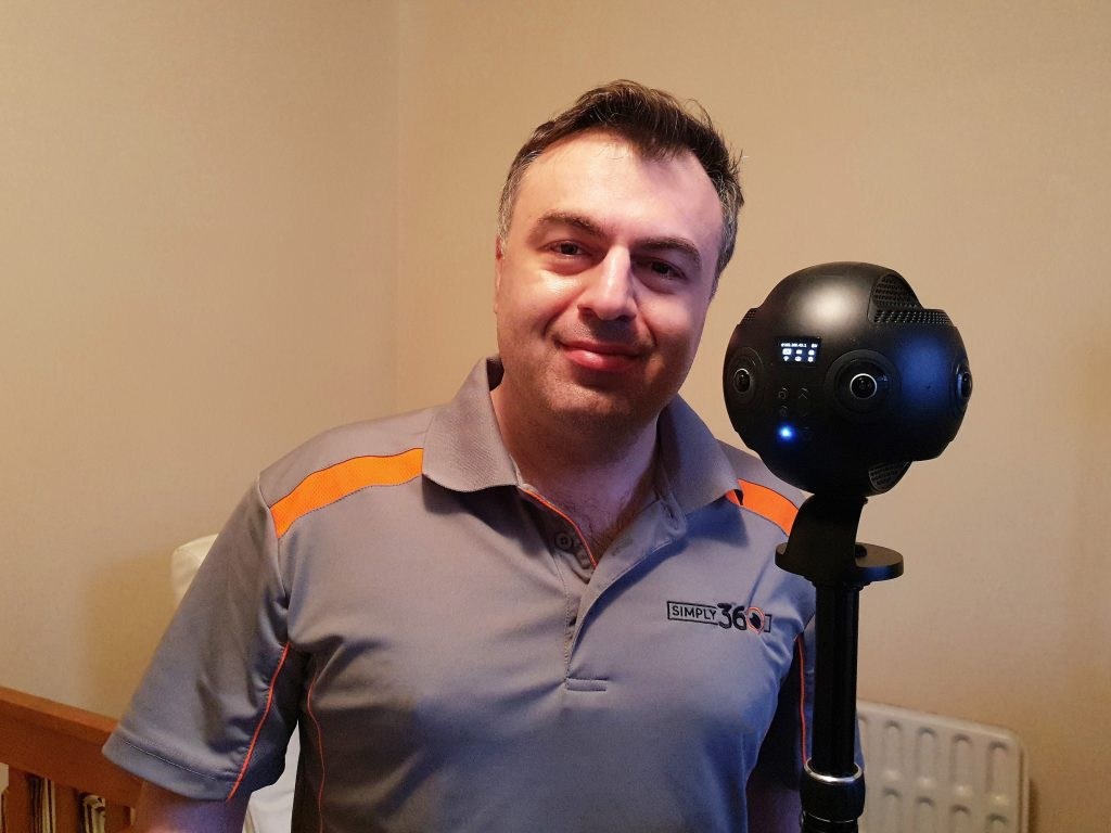 Dimitri Cassimatis uses Insta360 cameras to create virtual tours for real estate.