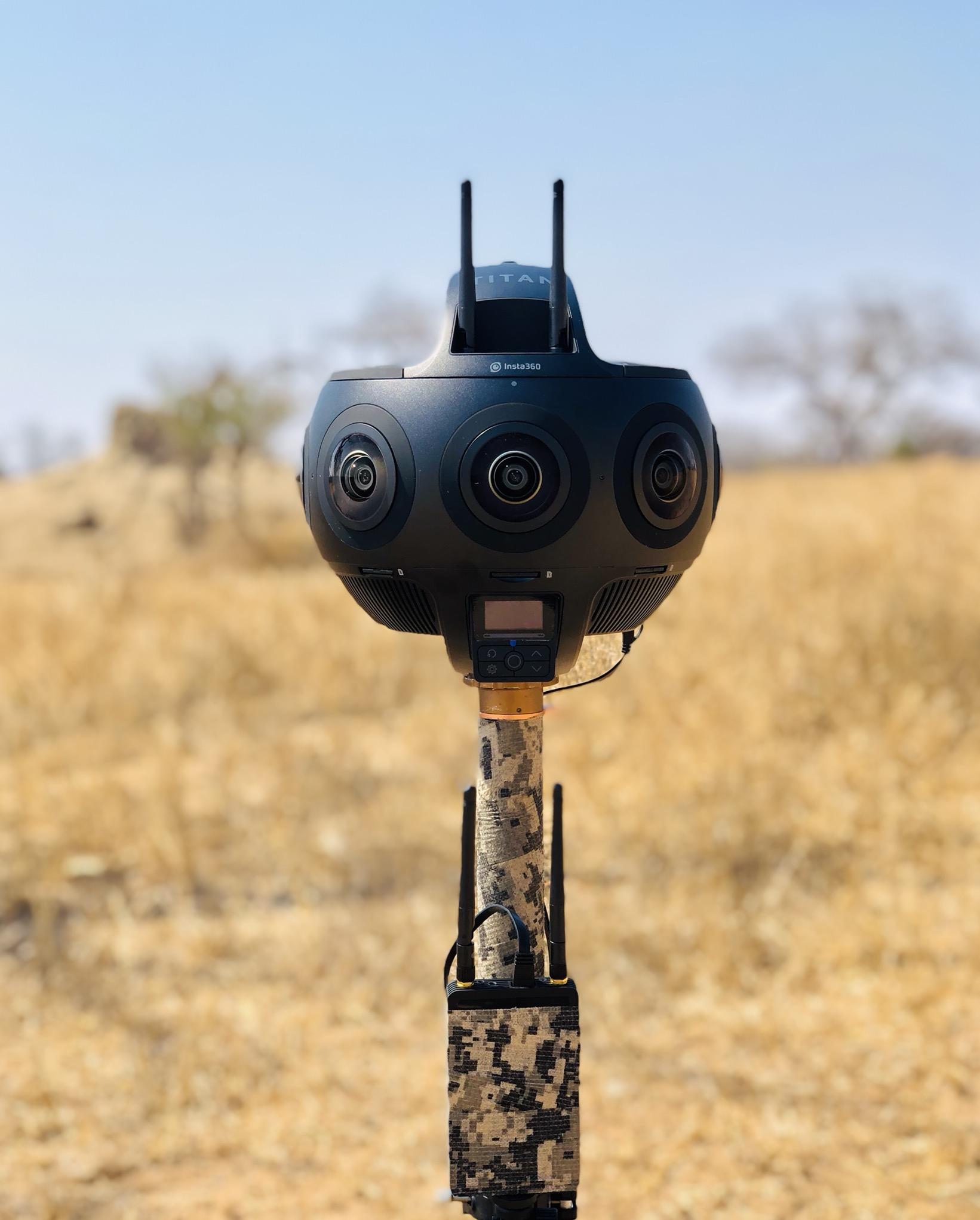 Insta360 Titan in African savannah
