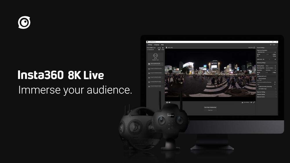 Insta360 8K Live software