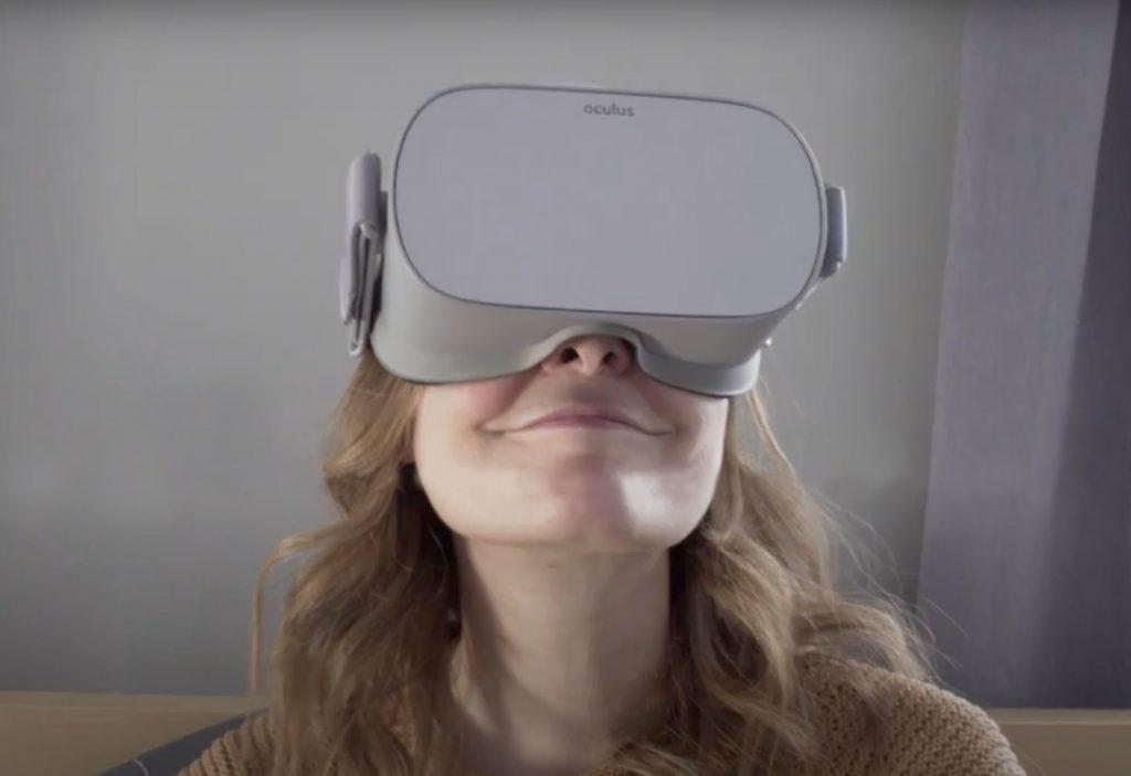 virtual reality telepresence headset