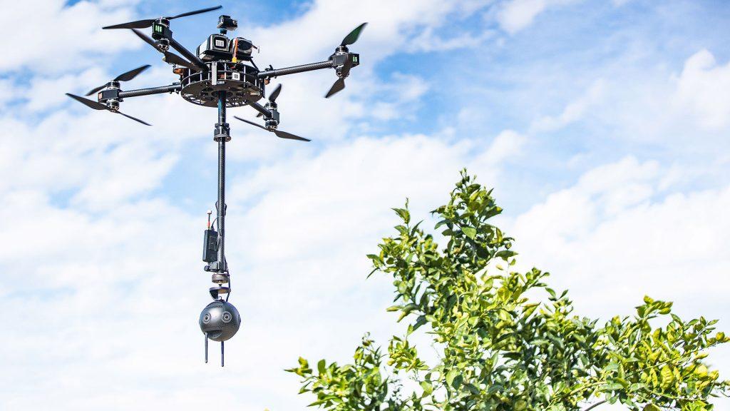 Insta360 Pro 2 camera on drone