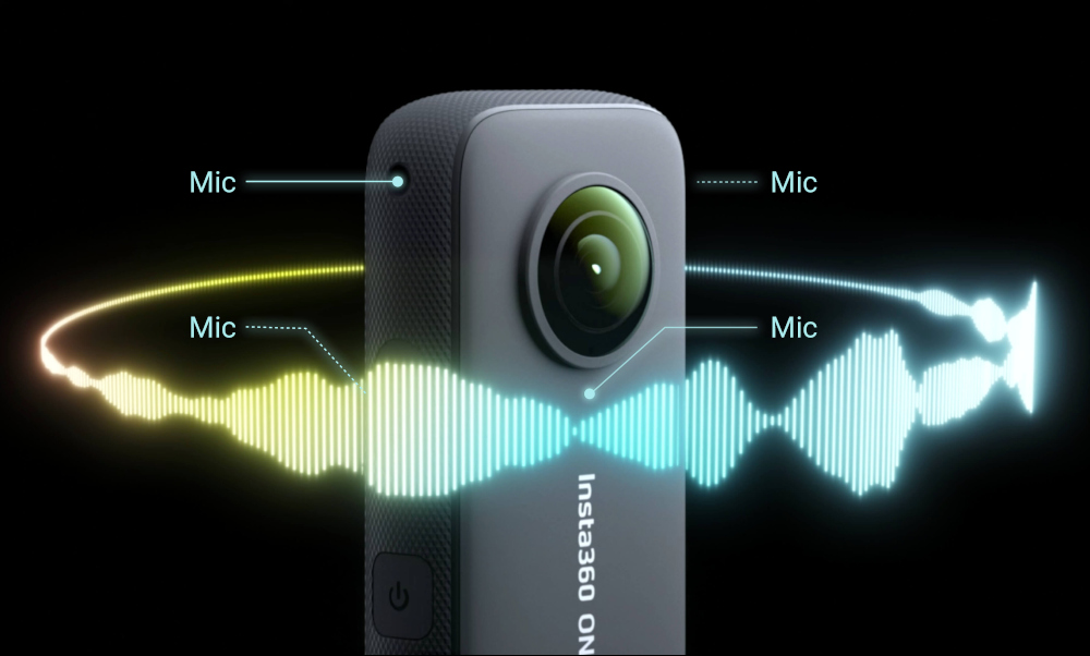 Insta360 ONE X2 audio