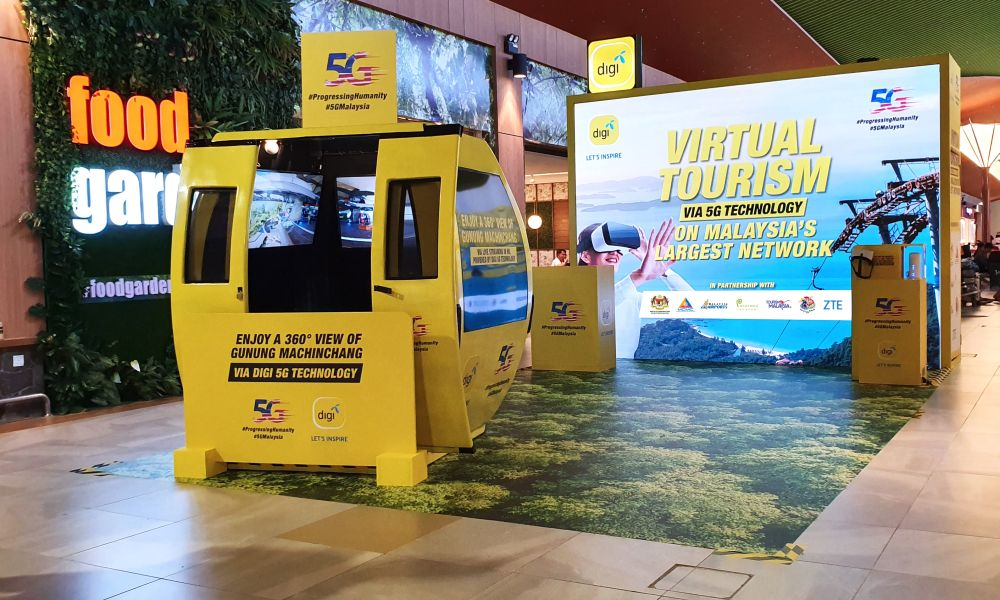The VR experiential zone in Langkawi International Airport