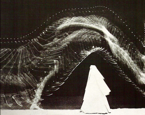 A light painting by Etienne-Jules Marey & George Demeny, created in 1889.