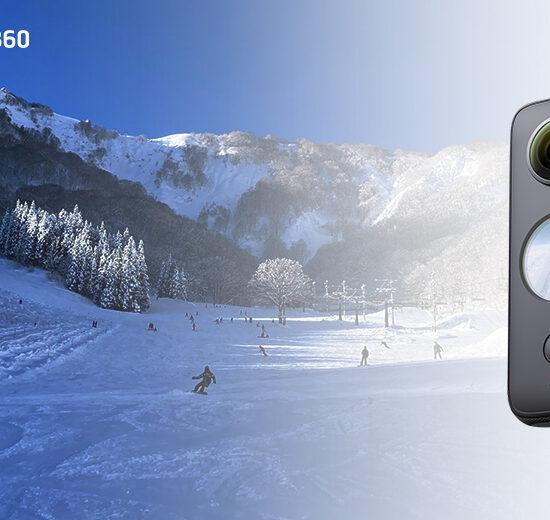 Insta360 ONE X2 360度カメラ無料レンタル体験 @神立スノーリゾート