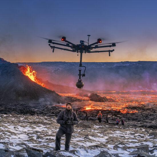 8K VR iceland volcano