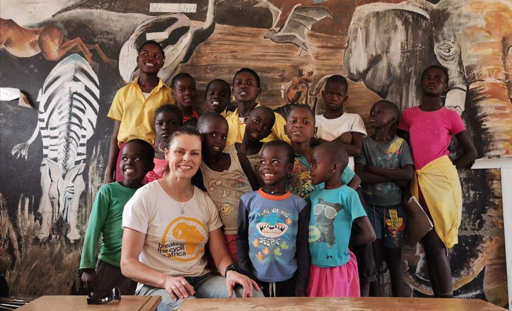 Kate Leeming with Kids