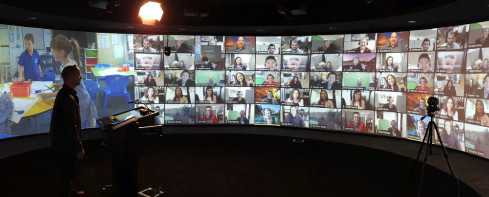 Virtual learning during COVID using the immersive classroom
